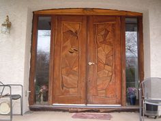 Small Wooden Doors - Interior wood doors and also makes, and wooden door come in various styles, prices, fabrics. Wooden Front Door Design, Main Entrance Door Design, Double Front Doors, Modern Front Door, Front Entry, Wood Entry Doors, Wooden Doors, Barn Doors, Entrance Doors
