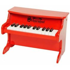 Our Schoenhut 25 Key My First Piano is perfect for toddlers. This toy piano is an ideal instrument for developing eye-hand coordination and encouraging musical creativity in children. The Schoenhut 25 Key My First Piano comes in white, pink and red.
