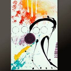 Abstract Canvas Art Painting 36x24 Original by wostudios on Etsy, $129.00