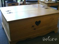 Coffee table makeover from AKA Design - before