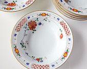 6 Vintage China Noritake Nanking bowls or dishes Small Desserts, Dessert Bowls, Noritake, Vintage China, Decorative Plates, Vintage Items, Chips, Dishes, Fruit