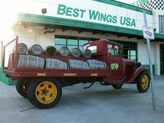Beer delivery truck