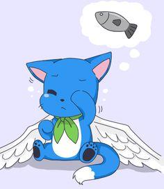 Happy (Fairy Tail) So kawaii Anime Fairy, 5 Anime, I Love Anime, Anime Shows, Fairy Tail Cat, Fairy Tail Happy, Fairy Tail Ships, Fairy Tail Characters, Anime Characters