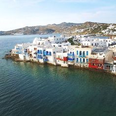 Little Venice from above , at Mykonos island (Μύκονος) ☀️. Always amazing & a perfect choice .