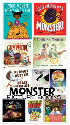 Fall and Monster Picture Books: Great to read at halloween or any time of the year to children