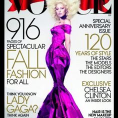 Lady gaga on the cover of vouge for September