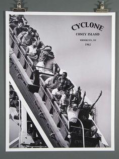 CYCLONE Roller Coaster Coney Island-1962