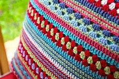 stripey cushion cover #crochet