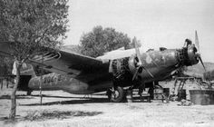 "Repair of engines on the bomber Cant Z. 1007 bis ""Alcione"" from structure 47 Stormo Rhodes, 1941."