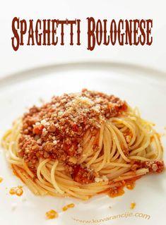 Špagete bolonjeze - Kuvarancije Bolognese, Risotto, Spaghetti, Pasta, Ethnic Recipes, Food, Essen, Meals, Yemek