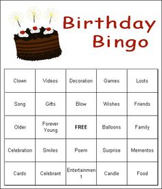 Adult Birthday Party Games 50th 80th