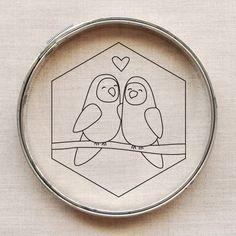 love birds embroidery pattern // wildolive.blogspot.com