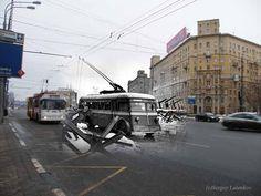 Moscow. Kutuzovsky-prospekt-1941-2009