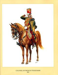 Oficer huzarów francuskich 1813
