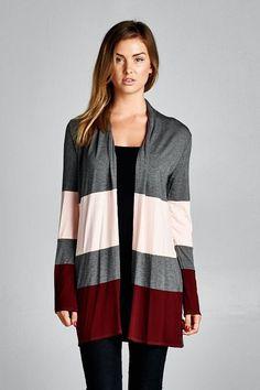 Color Block Cardigan - Lele B's Boutique
