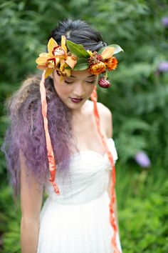 Floral crown - Maypole Inspiration from Gertie Mae's Floral Studio + Paperlily Photography (Lead Hair Stylist: Michelle McCoy)