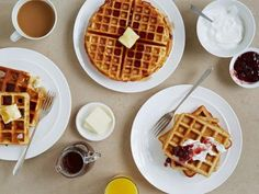 Food Network Kitchen whisked up sweet and savory waffle recipes that are worthy of breakfast, lunch or dinner. Happy waffling!