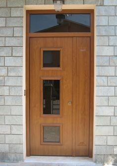 Porta blindata con rivestimento alluminio-pvc con finestrature a vetro antiproiettile classe resistenza RC4 Massage Room, Door Design, Garage Doors, Outdoor Decor, House, Jewelry, Home Decor, Pure Beauty, Houses