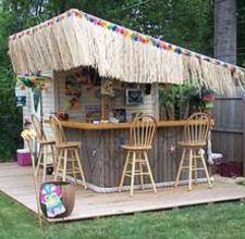 tiki bar plans and tiki hut plans for easy and simple diy