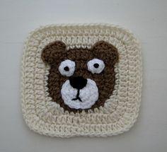 Ravelry: I-hook's Bear & Fox motifs for the ZooKeeper's Blanket Crochet Square Blanket, Crochet Square Patterns, Crochet Quilt, Crochet Blocks, Crochet Bebe, Crochet Stitches Patterns, Crochet Squares, Knit Or Crochet, Crochet Granny