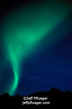 Northern lights, big dipper and north star in Alaska. Aurora ...