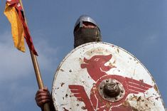 Anglo-Saxon Clothing | Norman soldier from a modern re-enactment. Here he is holding his ...