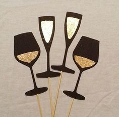 Photo Booth Props 4 pc Drink Set Wedding Photo Booth Props Champagne Flute Wine Glass Photo Prop Set Glitter Photo Prop Birthday Photo Booth