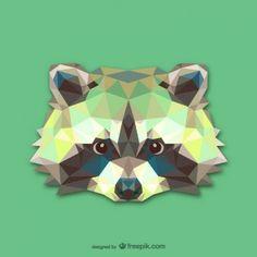 Triangle raccoon design