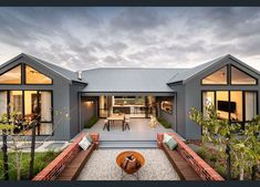 Australian Country Houses, Country Modern Home, Modern Barn House, Barn House Plans, Australian Homes, Dream House Plans, Modern House Plans, Modern House Design, Country Living