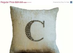 4th of July SALE Ivory White Velvet throw pillows by AmoreBeaute