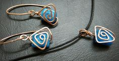 Aztec wire jewelry in copper and blue stones For sale. Send me a message for details