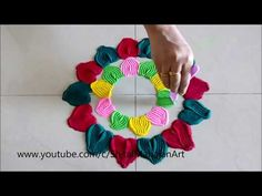 Super creative and awesome beautiful rangoli designs/easy and simple quick rangoli design by jyoti - YouTube