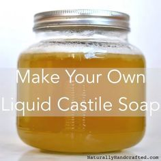Bronners Inspired DIY Liquid Castile Soap - Naturally Handcrafted Best Picture For DIY Body Care Castile Soap Recipes, Liquid Castile Soap, Liquid Hand Soap, Homemade Soap Recipes, Liquid Soap Making, Diy Dish Soap Castile, Castille Soap Shampoo, Diy Shampoo, Solid Shampoo