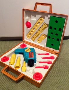 1977 Fisher Price Tool Kit #924, Fisher Price Tools, Vintage Fisher Price Toys… More