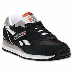 Men's Reebok GL 2620 Casual Shoes| FinishLine.com | Black/White/Swag Orange