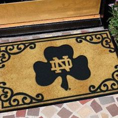 Notre Dame Fighting Irish Door Mat. #ND #GoIrish