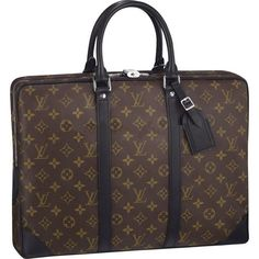 Louis Vuitton Monogram Macassar Canvas Porte-Documents Voyage is perfect for the business man on the go classic yet elegant will make every head turn.
