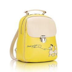 Check out the savings on this Vintage Yellow Poodle Backpack     All purchases help a local pet charity in your country    Free worldwide shipping    https://www.pawsify.com/product/vintage-yellow-poodle-backpack/