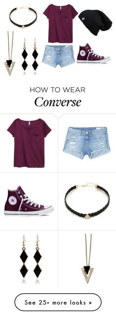 """Untitled #112"" by tiger123456789 on Polyvore featuring H&M, Chicnova Fashion, Jacquie Aiche, rag & bone/JEAN and Converse"