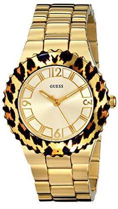 15d294d080c4 Guess Watch for Women GUESS Women s U0404L1 Gold-Tone Watch with Animal  Print Top Ring. Michael Kors ...