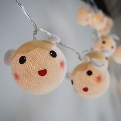 Cutie Sheep cotton ball string lights for Kids party by ginew