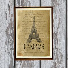Französisch Antik print Paris Kunst alt aussehende Antiqued Dekoration AK17