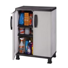 W 2 Shelf Plastic Multi Purpose Base Wall Cabinet