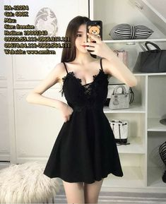 Korean Girl Fashion, Ulzzang Fashion, Diva Fashion, Asian Fashion, Winter Fashion Outfits, Fashion Dresses, Nice Dresses, Short Dresses, Stylish Blouse Design