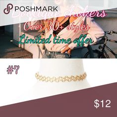 Gold or Silver Toned Tattoo Choker Add a touch of color to your look with this gold toned choker necklace. This gold tattoo choker necklace will bring about some sparkle to your look. ➡️ Stretch to fit 🎀 boutique chokers items may take 5-12 days to arrive your home Jewelry Necklaces