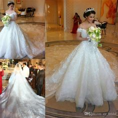 Gown Wedding Sexy Off Shoulder Saudi Arabia Luxury Wedding Dresses 2015 Beaded Lace Appliqued Princess Plus Size With Cathedral Train Berta Bridal Gowns Exotic Wedding Dresses From Cc_bridal, $604.9| Dhgate.Com