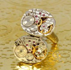 Steampunk Cufflinks Jewelry SOLDERED by VictorianCuriosities, $75.00