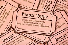 bring a pack of diapers for a diaper raffle.