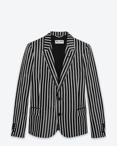 This YSL Classic Single Breasted Wet Jacket in Black and White Striped Polyester is so cute at http://www.ysl.com/en_US/shop-products/Women/Ready-To-Wear/Jacket-Blaser/classic-single-breasted-wet-jacket-in-black-and-white-striped-polyester_805157995.html