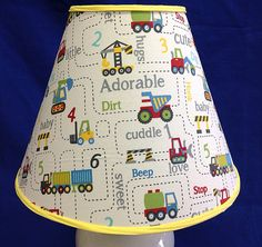 Construction Nursery Lamp Shade